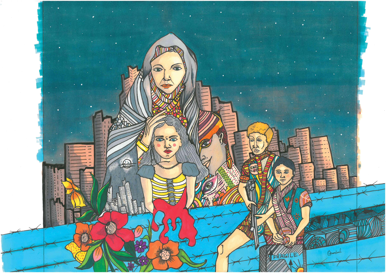 Hassan-Issa_The-Turmoil-of-a-City-Marker-Illustration-jpeg