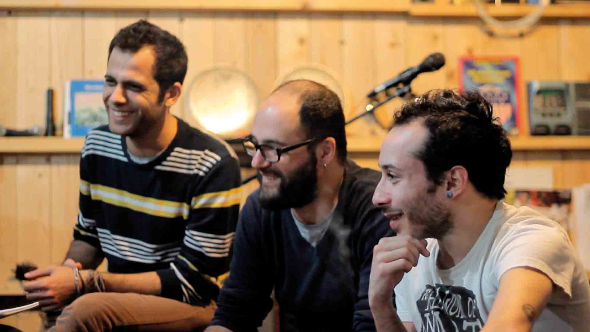 Left to Right: Dani Shukri, Khaled Omran, Tarek Khuluki // TANJARET DAGHET // photo credit: Moussa Shabandar
