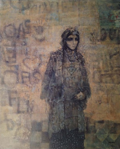 """""""Woman and Wall"""" by Mohammed Issiakhem"""