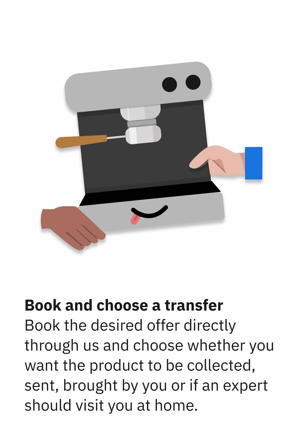 book and choose a transfer