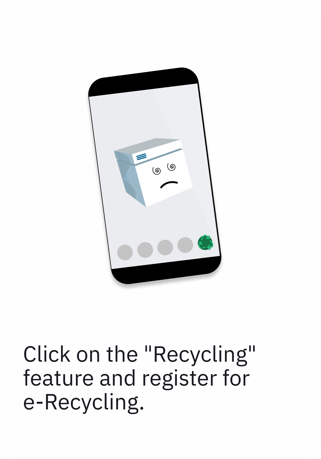 choose the recycling feature