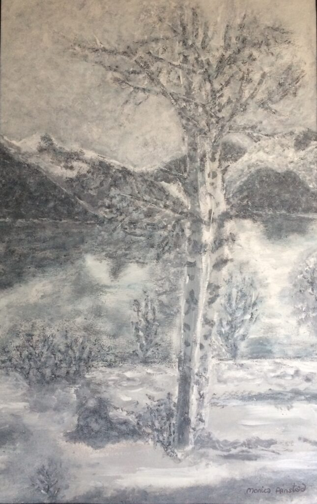 Monica Aanstad - Pale Winter scene