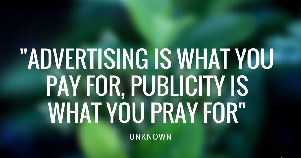 PUBLIC RELATIONS VS ADVERTISING