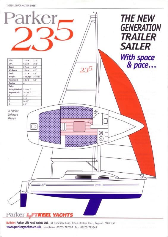 The Parker 235 best in class trailer sailer