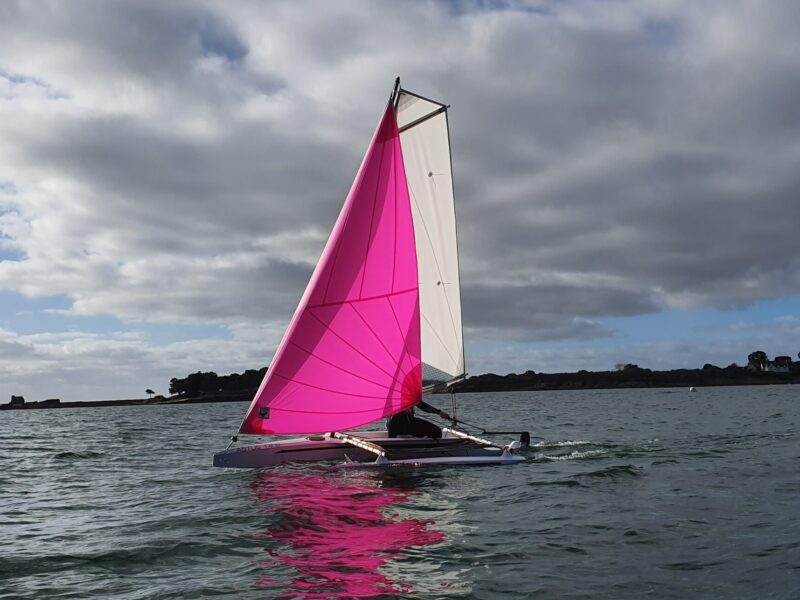 Astus 14.5 on the water with Gennaker