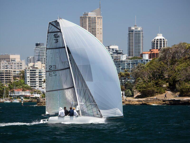 Emma Peel Elliott 7 sportsboat with masthead asymmetric spinnaker