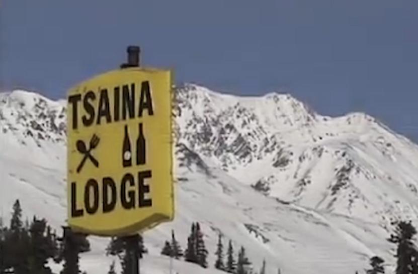 Former Tsaina Lodge sign in Valdez Alaska