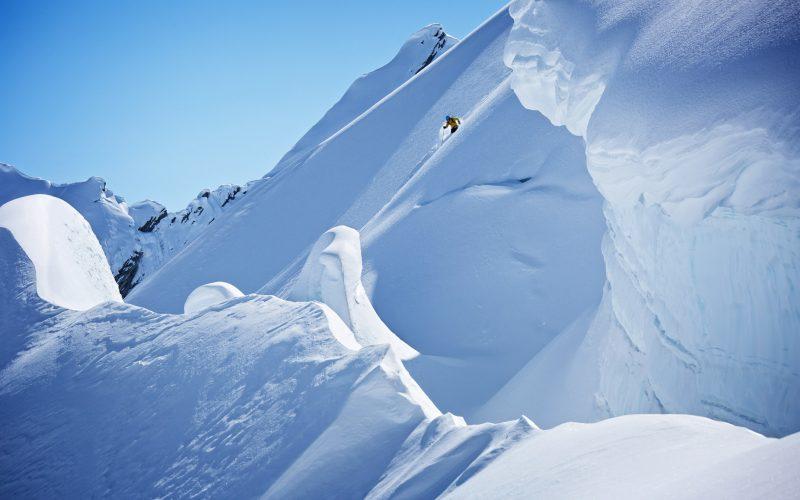skier alaska valdez heli-ski guides chugach mountains