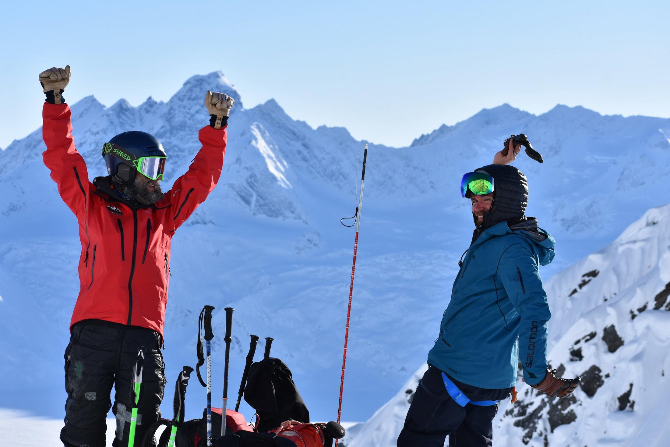 guide Jed Workamn skiers Valdez Heli-Ski Guides Alaska