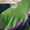 Black with Parrot Green Khun Saree