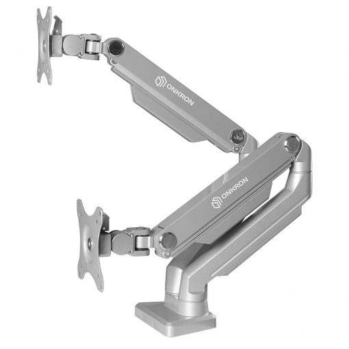ONKRON Dual monitor Desk mount MS160-slv
