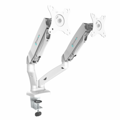 Dual Monitor Desk Mount for 13 to 27-Inch Screens up to 6.5 kg G160 White