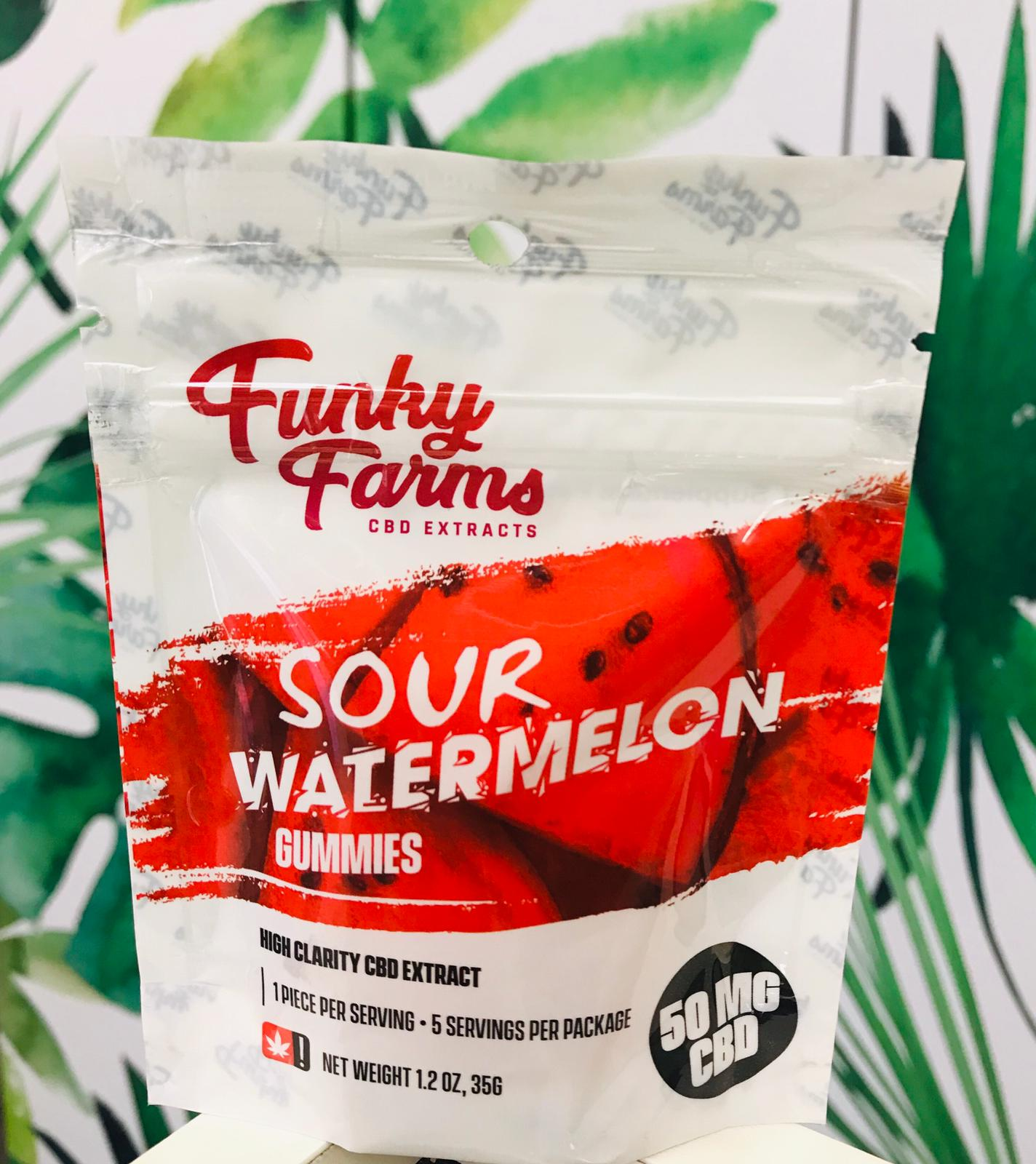 Funky Farms CBD Gummies – Sour Watermelon