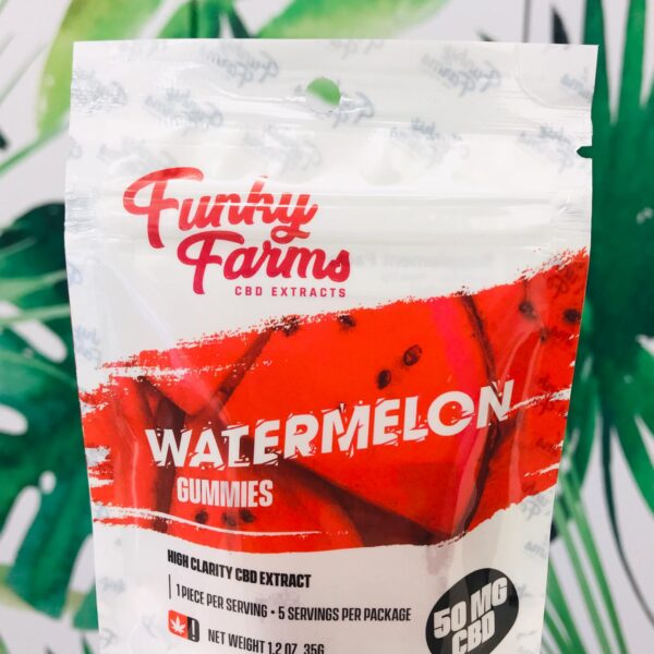 Funky Farms CBD Gummies – Sour Watermelon - Herbology