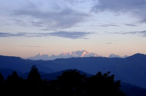 View of Kanchenjungha from Mirik
