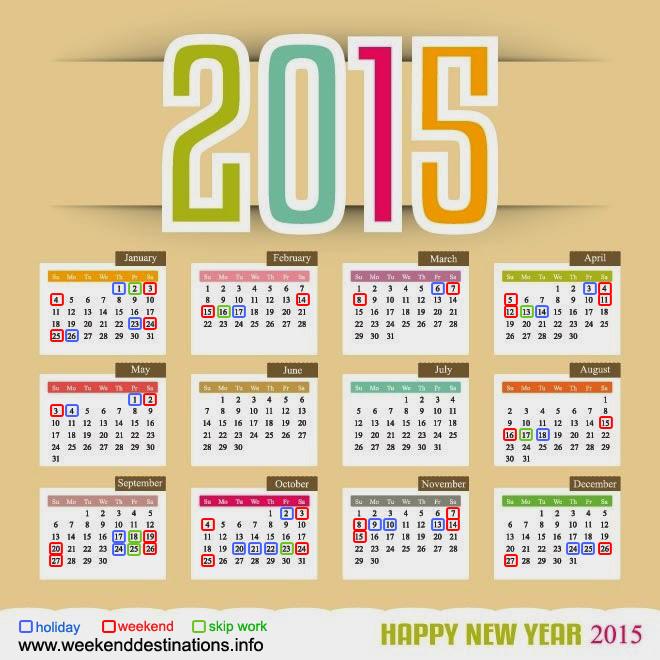 Weekend Dates of 2015