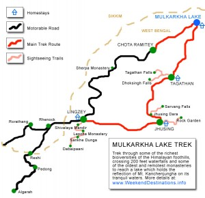 Map of Mulkarkha Lake Trek