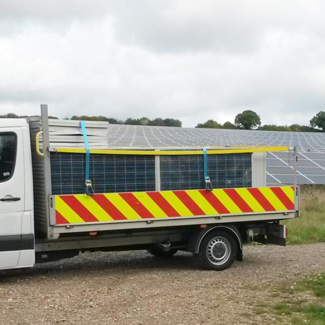 Panels on truck