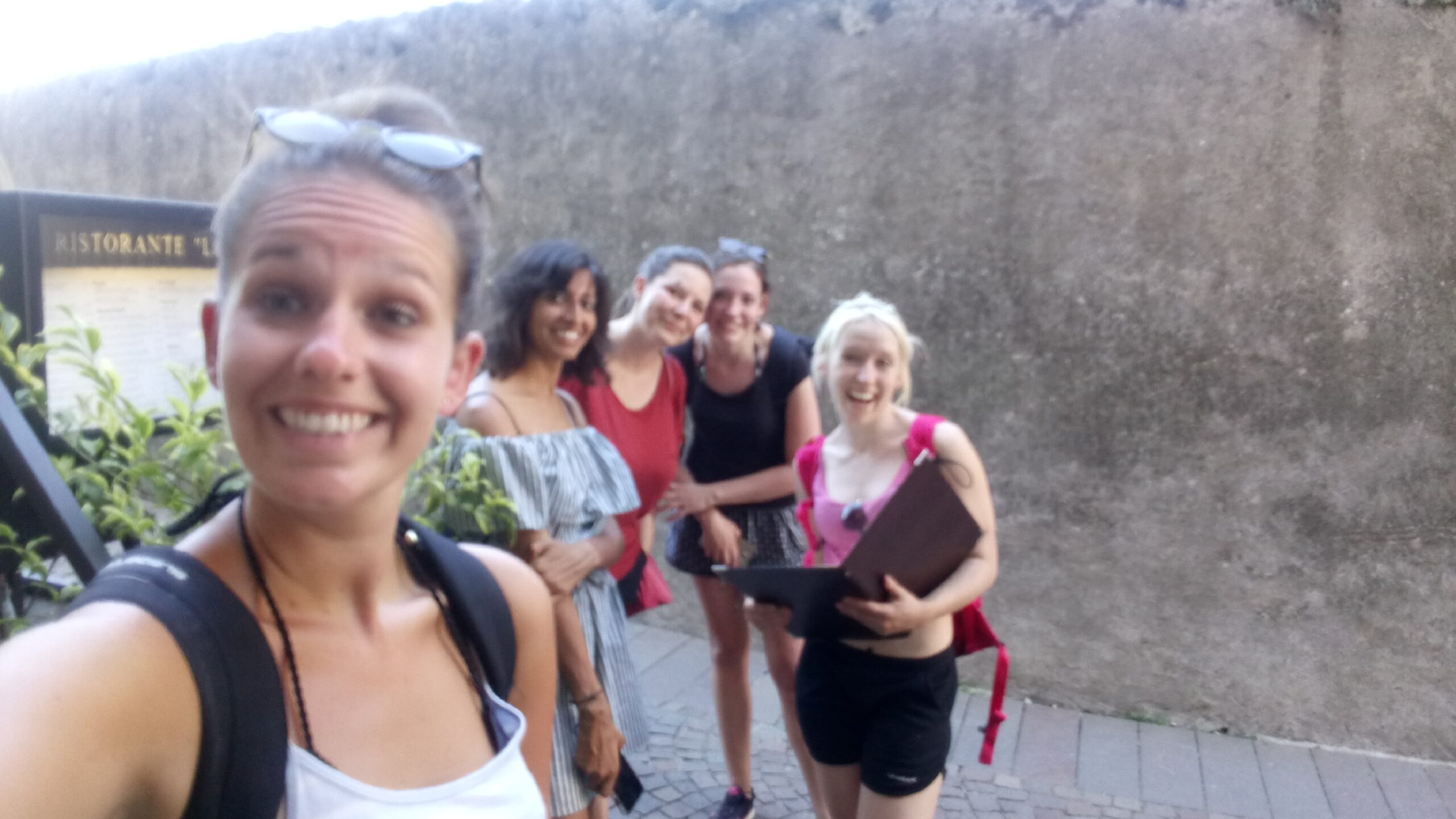 Cycle ride around Lake Garda with the girls in my hostel room, Italy 2016