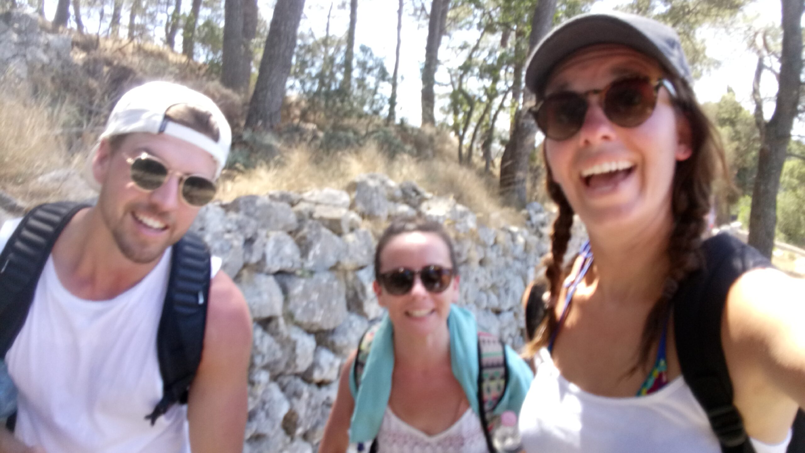 Kyle, Ann-Marie and I hiking in Capri Italy 2016