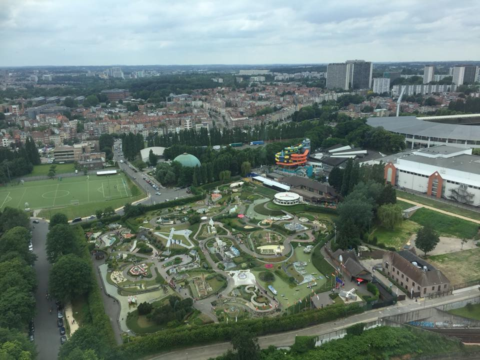 Views of mini Europe from the Atomium