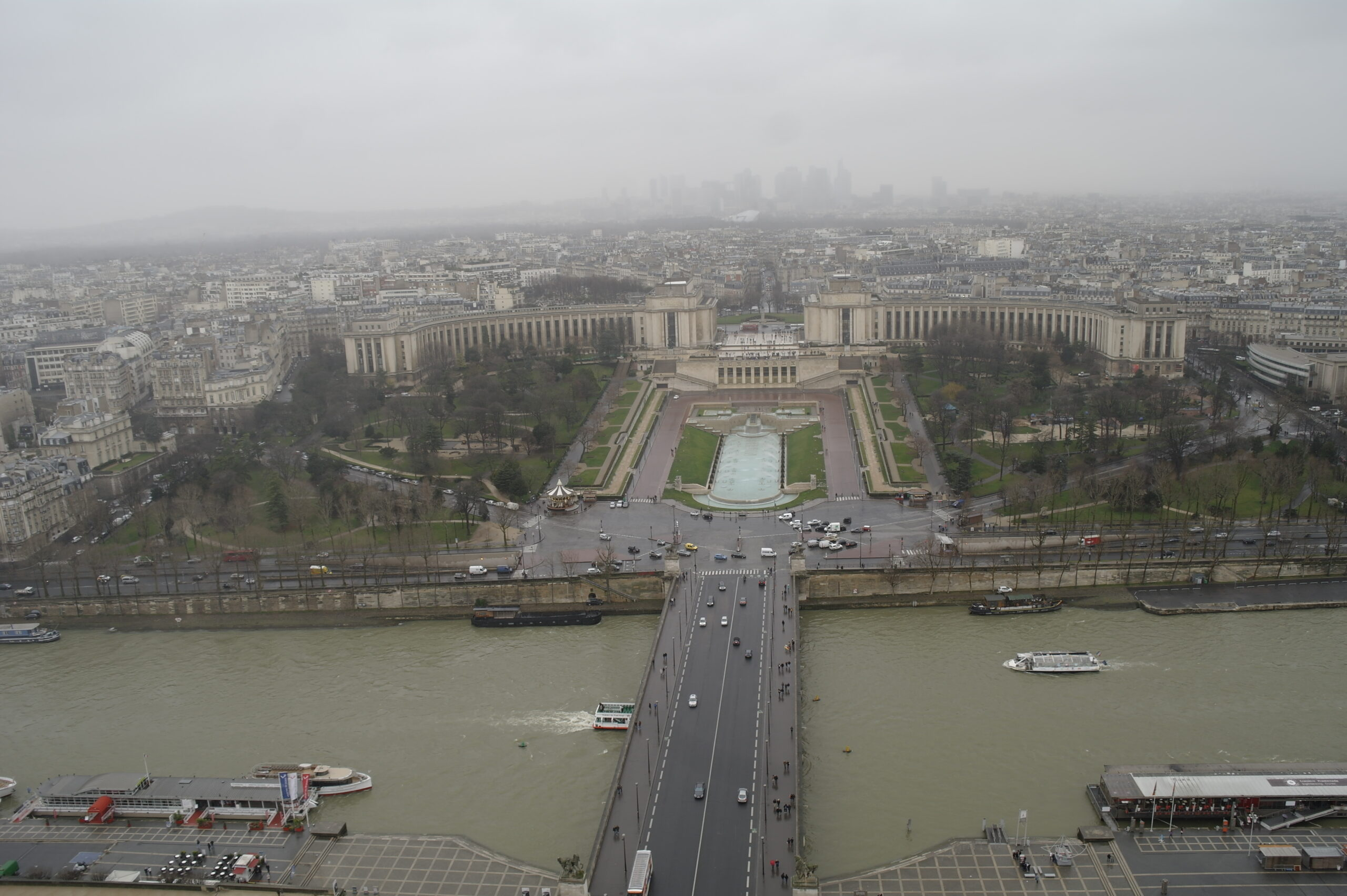 Panoramic views from the top of the Eiffel Tower