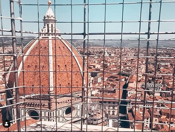 Views of Florence from inside the Duomo