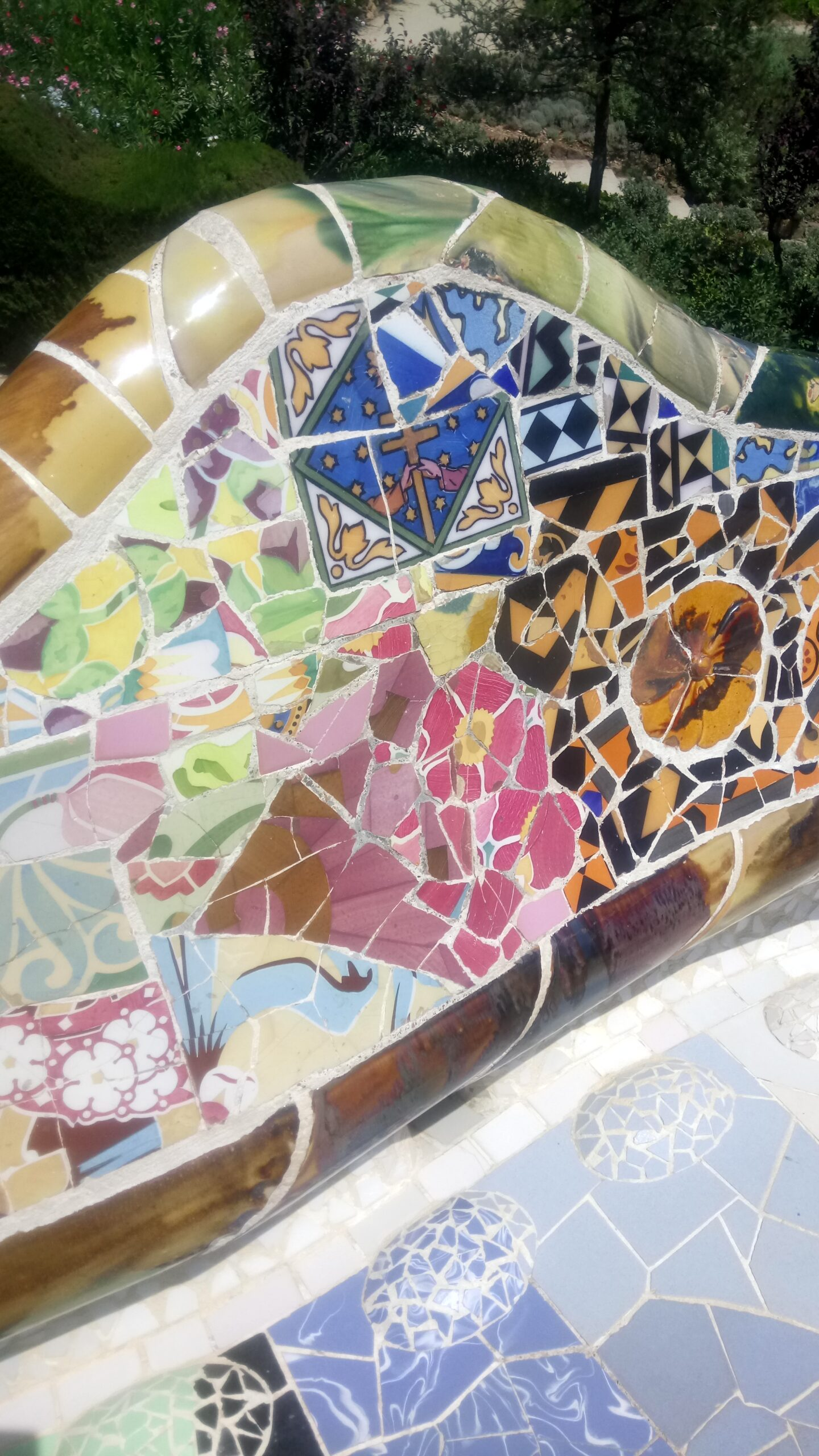 Gaudi mosaic in Parc Guell
