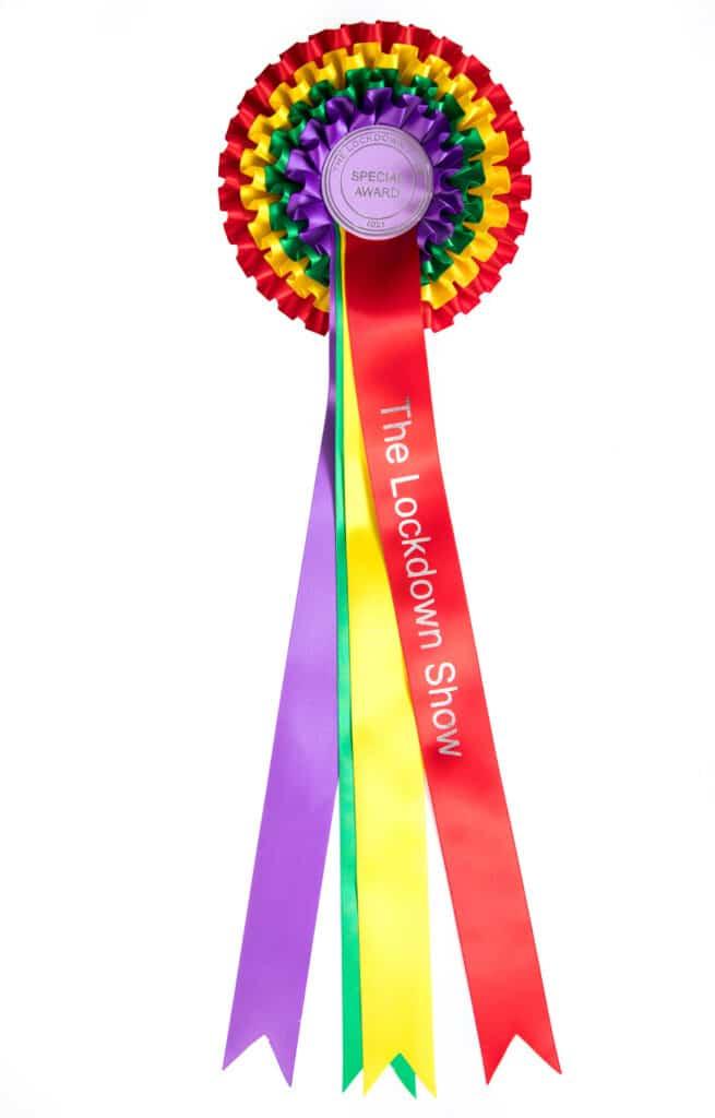 Lockdown Show Rainbow Rosette