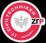 ztp.digital - prüfsiegel neu 2020 - it-ziviltechniker - amarant grau - v1.0 - 300px