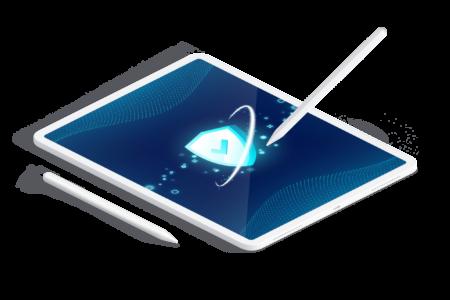 ztp.digital - seite leistungen - it-sicherheitsaudit tablet mockup