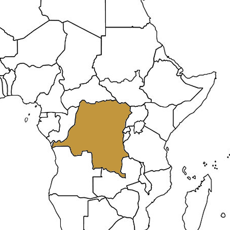 Congo highlighted on a map