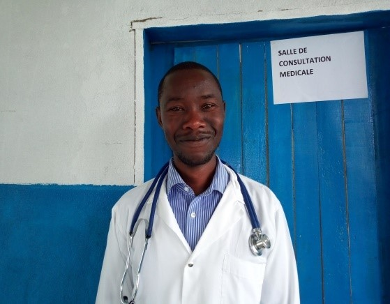 An image of a doctor smiling