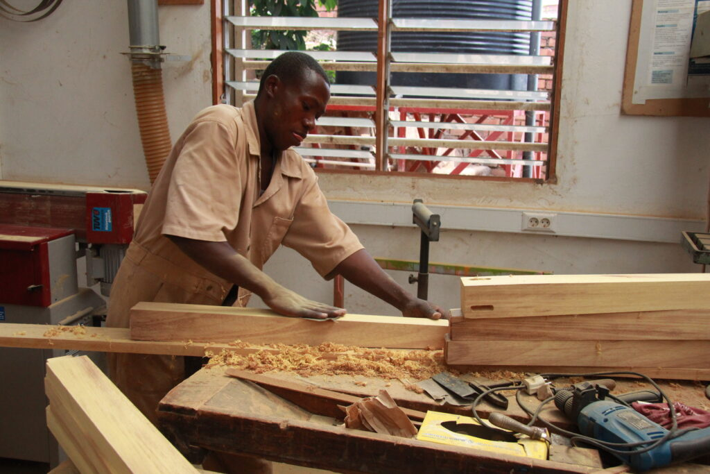 A carpenter at work