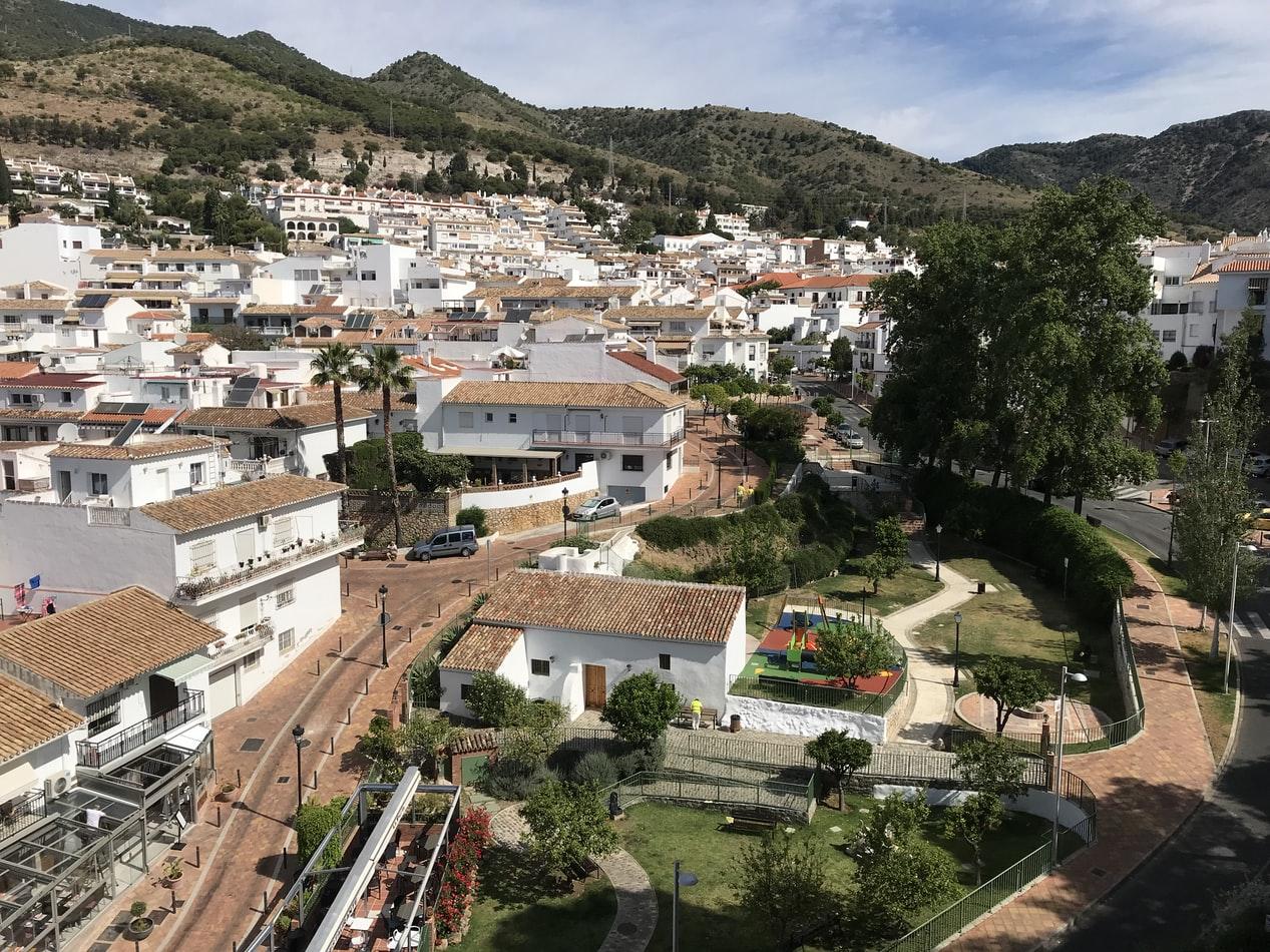 Benalmadena Pueblo (Old town) Arial view - Main image