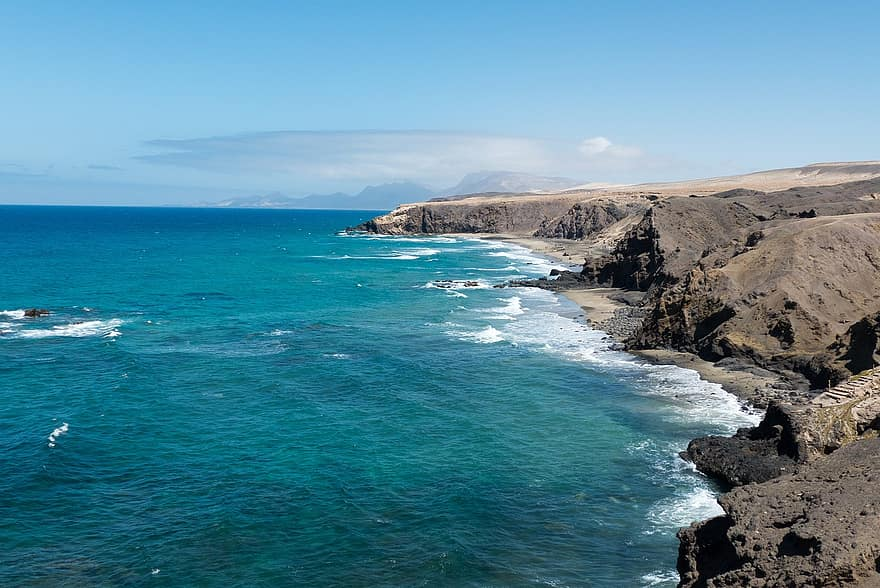 Lanzarote Coast Line with Sea