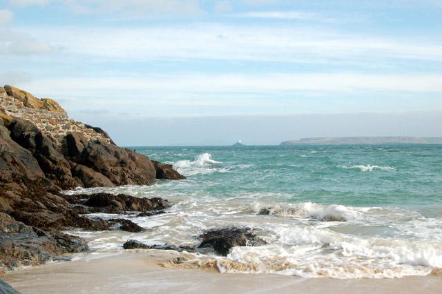Godrevy Beach in Cornwall
