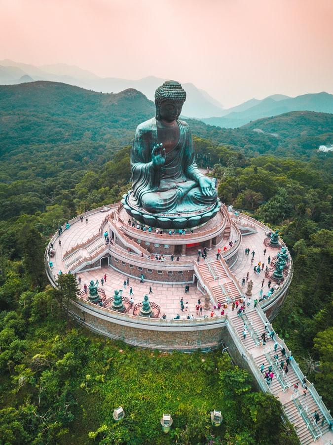Arial shot of Big Buddha