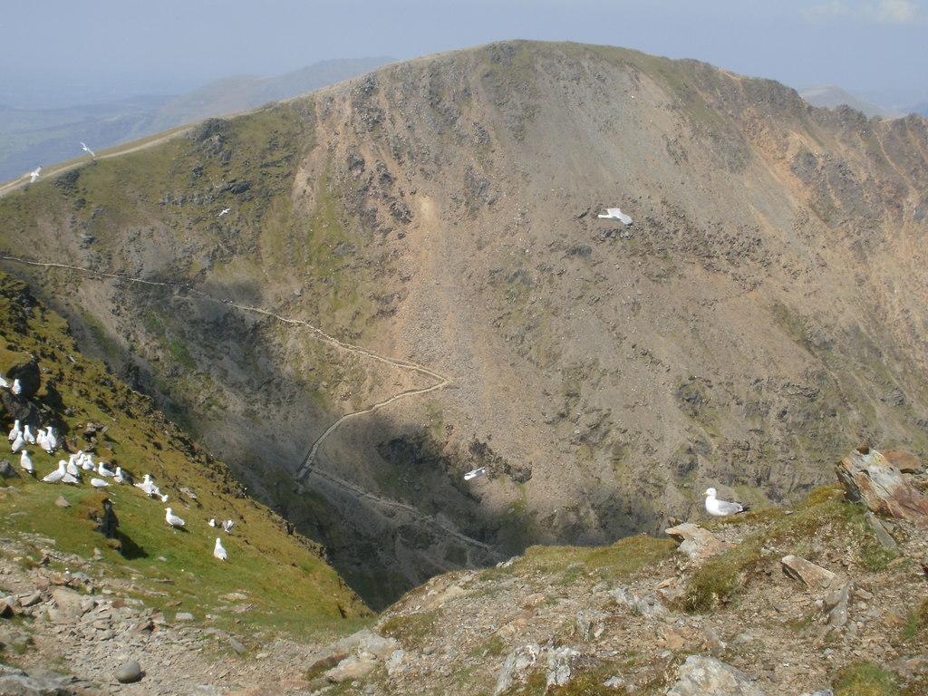 Snowdon path Arial View