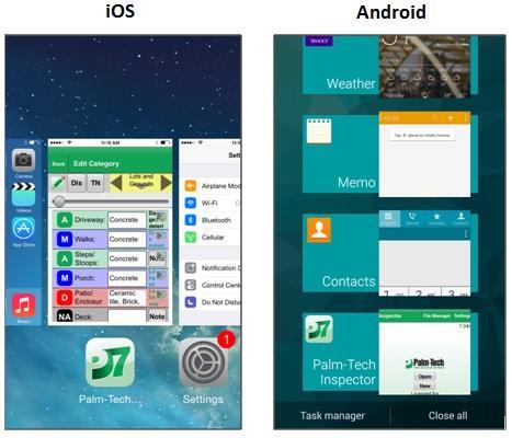 bg running app