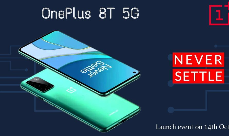 OnePlus 8T 5G-  Launch event, expected price, and specs