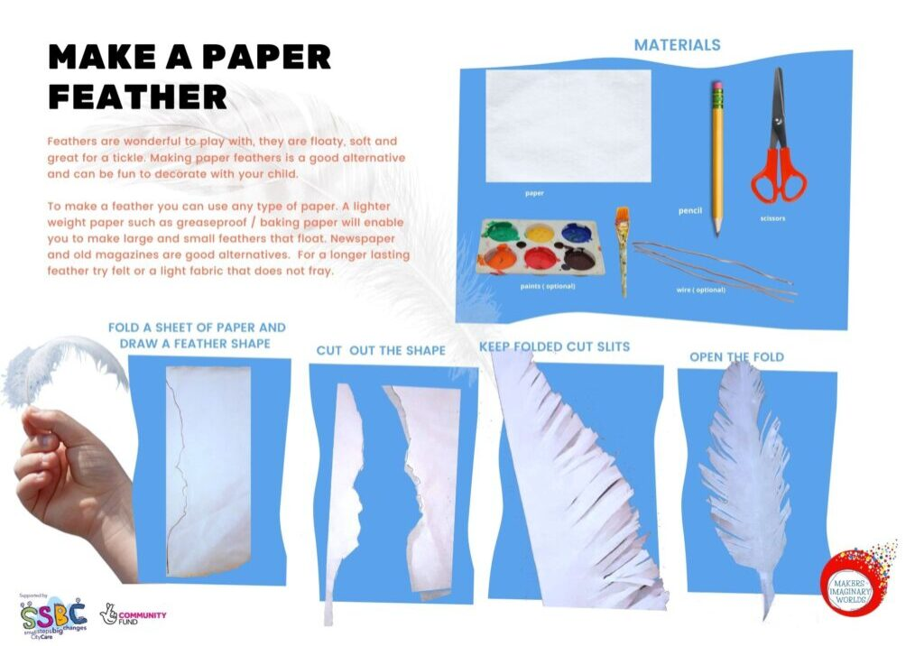 Make a paper feather