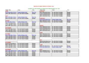 MFP Schedule 2019-2020