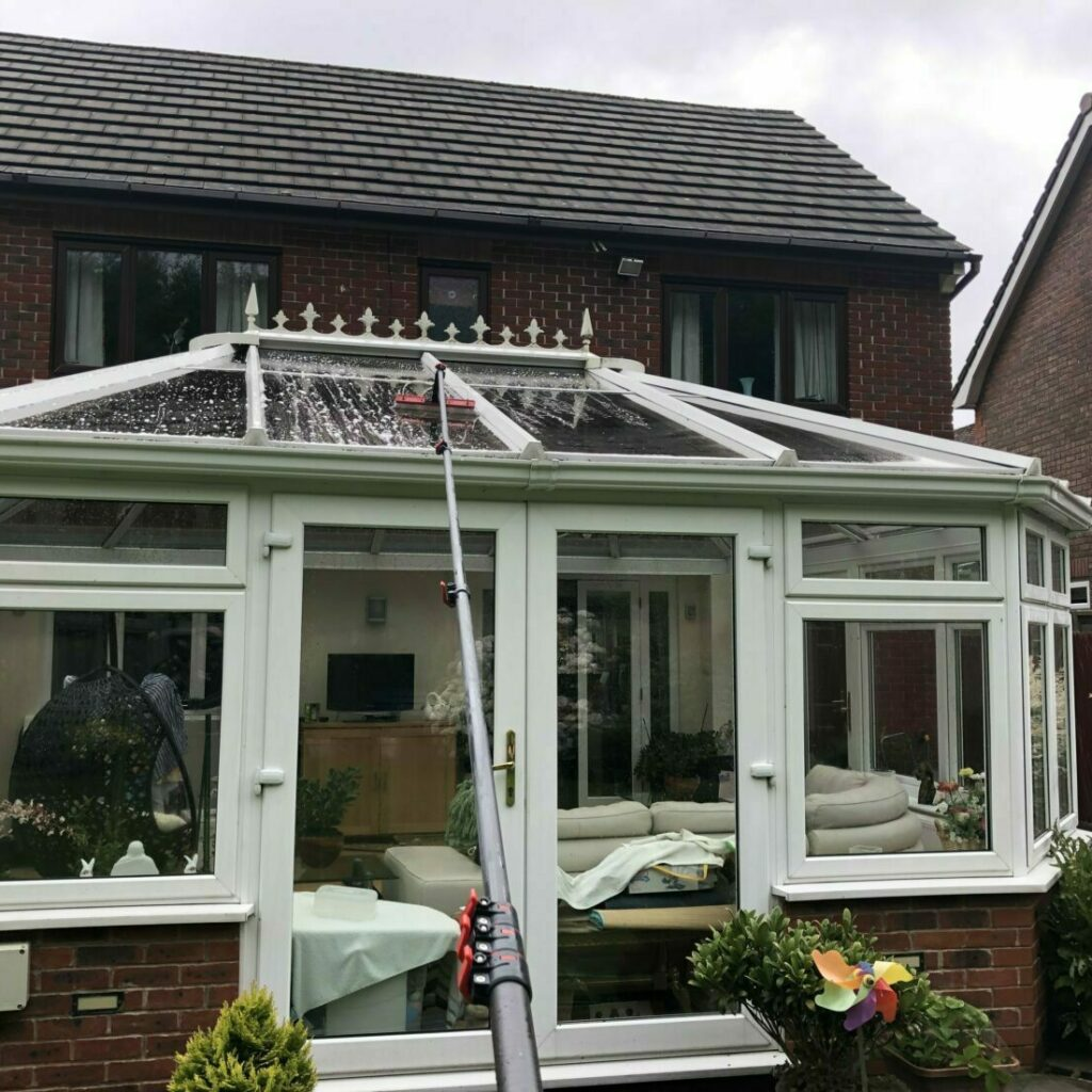 Conservatory roof clean