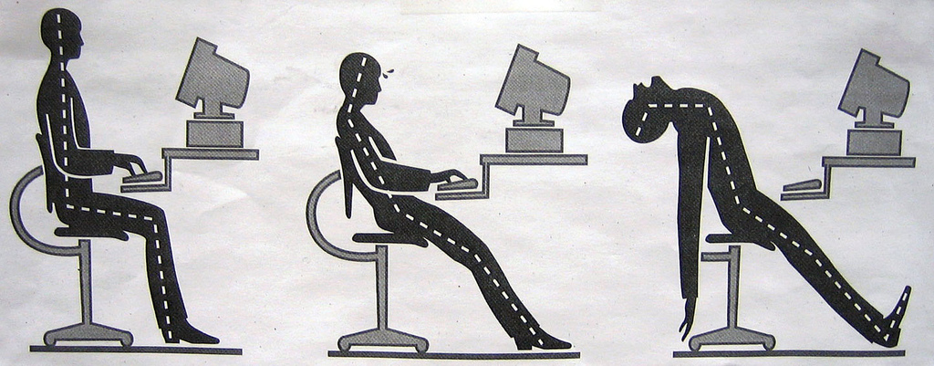 Image showing good and bad posture