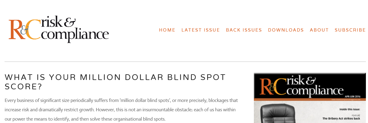 How You Can Determine Your Million Dollar Blind Spot Score (Or Euro, Yen etc.)