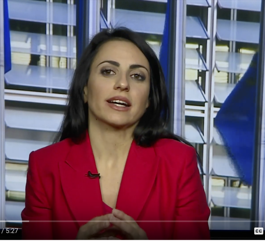 Alessia Centioni at SkyTG24