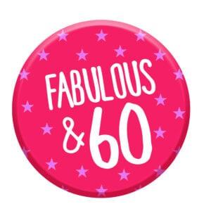 fabulous 60 badge