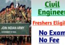 Indian Army SSC Recruitment 2021   Fresher Civil Engineers    Apply Here
