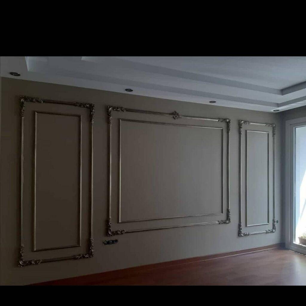 kalın duvar çıta modeli oturma odası
